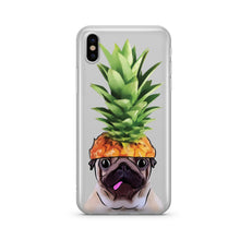 Pineapple Pug - Clear Phone Case Cover