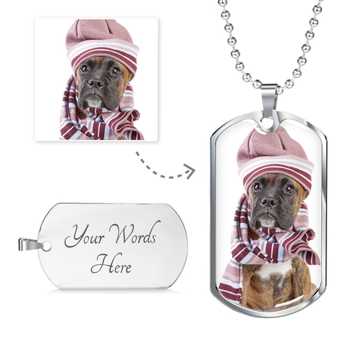 Personalized Luxury Dog Tag Military Chain