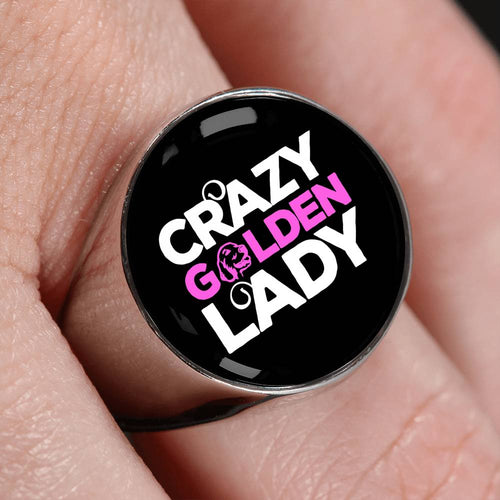 Crazy Golden Lady Luxury Signet Ring