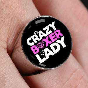 Crazy Boxer Lady Luxury Signet Ring
