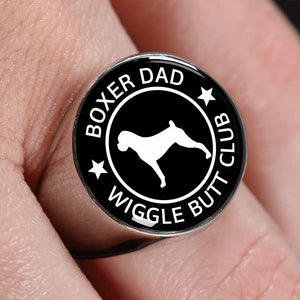 Boxer Dad Wiggle Butt Club Signet Ring