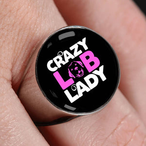 Crazy Lab Lady Luxury Signet Ring