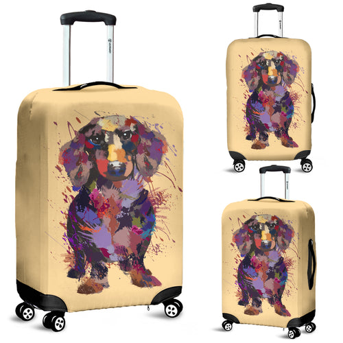 Dachshund Portrait Luggage Cover
