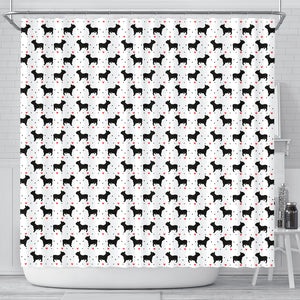 French Bulldog Love Shower Curtain