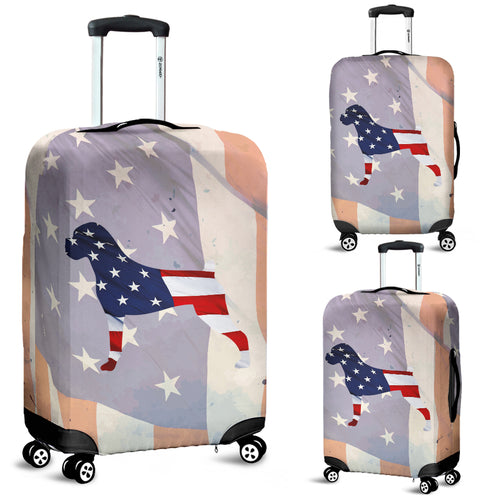 Patriotic Boxer Luggage Cover
