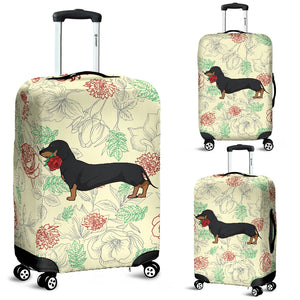 Dachshund Rose Luggage Cover