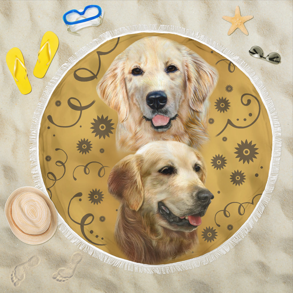 Golden Breed Beach Blanket