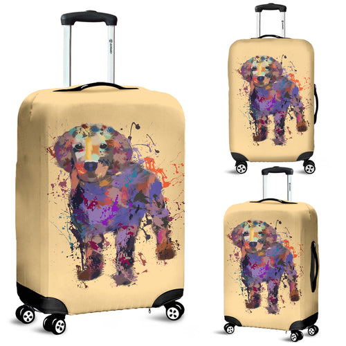 Golden Retriever Puppy Portrait Luggage Cover