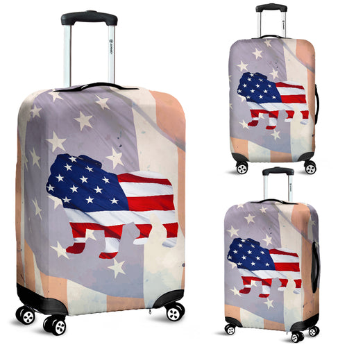 Patriotic Bulldog Luggage Cover