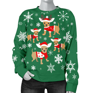 Chihuahua Xmas Women's Sweater