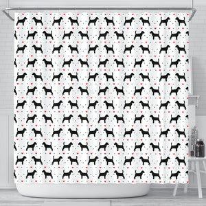 Beagle Love Shower Curtain