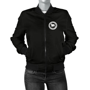 Bulldog Mom Women's Bomber Jacket