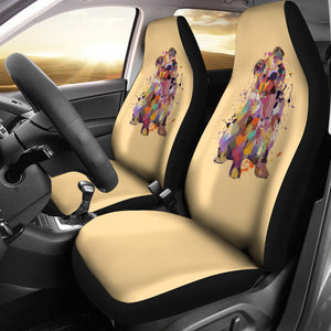 English Bulldog Portrait Car Seat Covers (GOLD)