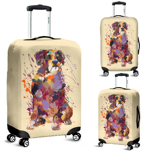 Boxer Portrait Luggage Cover
