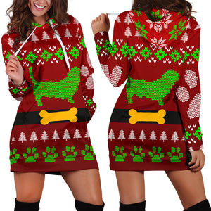 Dachshund Ugly Christmas Hoodie Dress