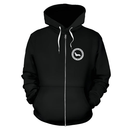 Doxie Mom Zip-Up Hoodie