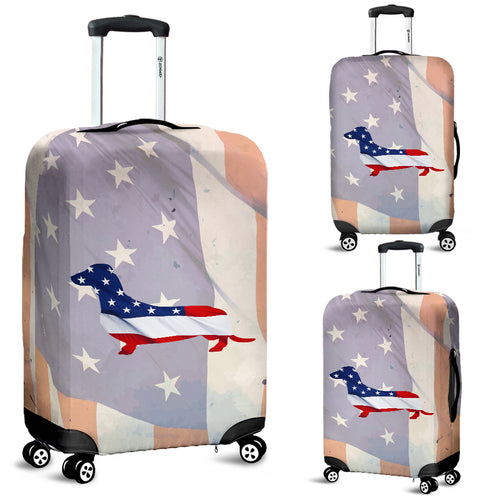 Patriotic Dachshund Luggage Cover