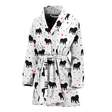 Bulldog Love Women's Bathrobe