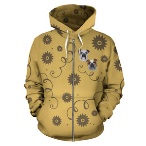 Bulldog Breed Zip-Up Hoodie