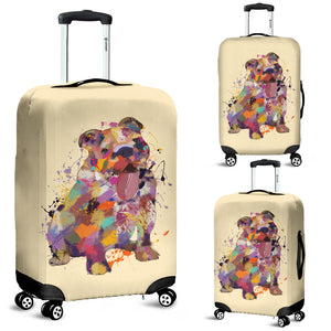 English Bulldog Portrait Luggage Cover