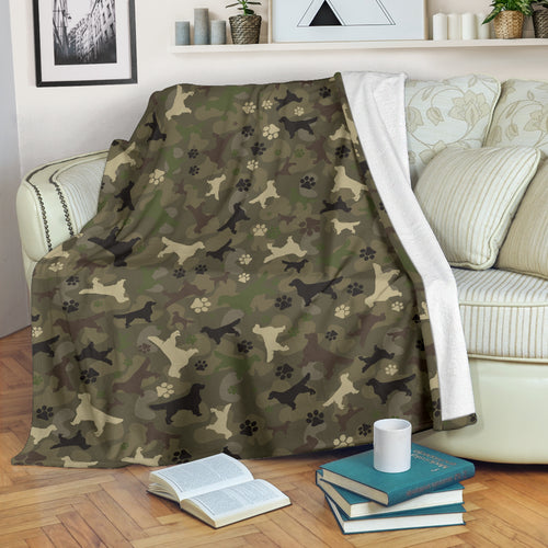 Golden Retriever Camo Premium Blanket
