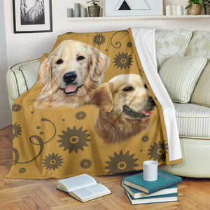 Golden Retriever Breed Premium Blanket