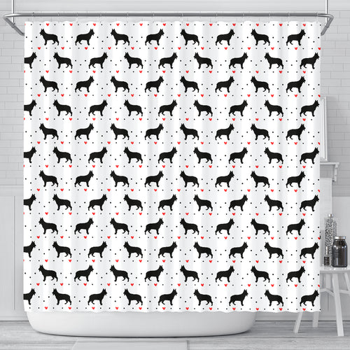 German Shepherd Love Shower Curtain