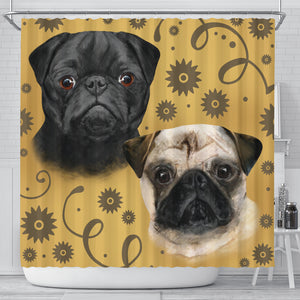 Pug Breed Shower Curtain