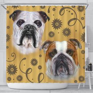 Bulldog Breed Shower Curtain