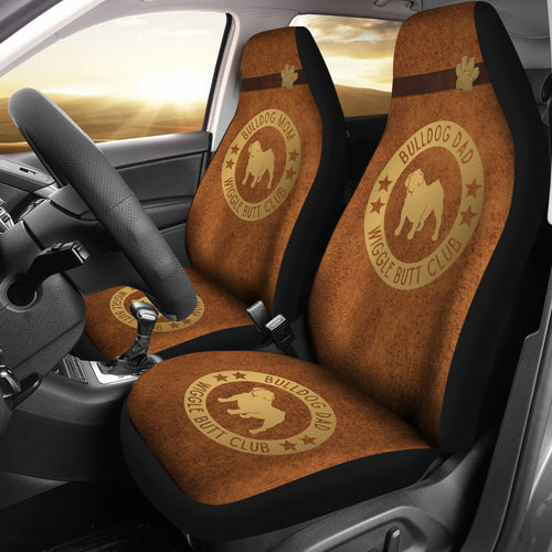 Bulldog Mom & Dad Car Seat Covers