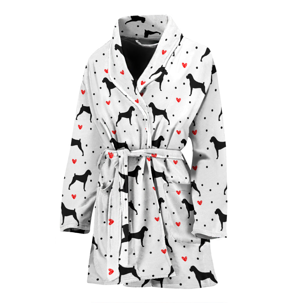 Boxer Love Women's Bathrobe