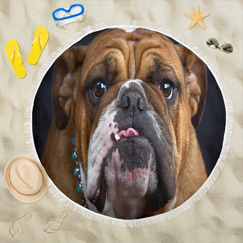 Bulldog Lovers Beach Blanket