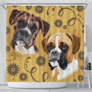 Boxer Breed Shower Curtain