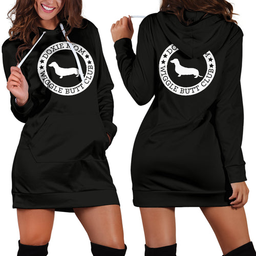 Doxie Mom Hoodie Dress