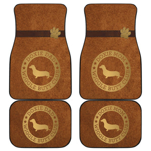 Doxie Mom & Dad Car Mats