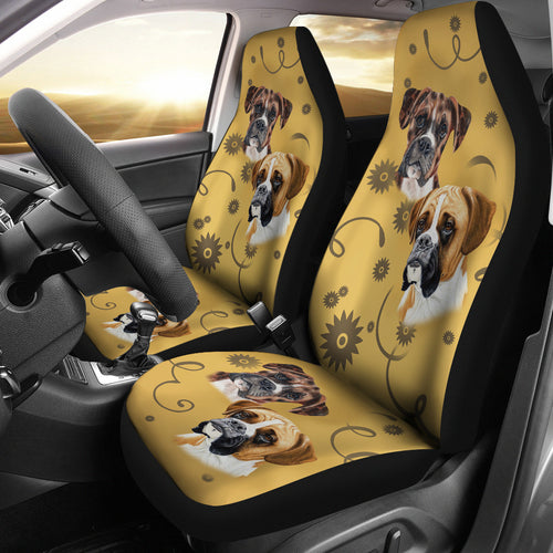 Boxer Breed Car Seat Covers