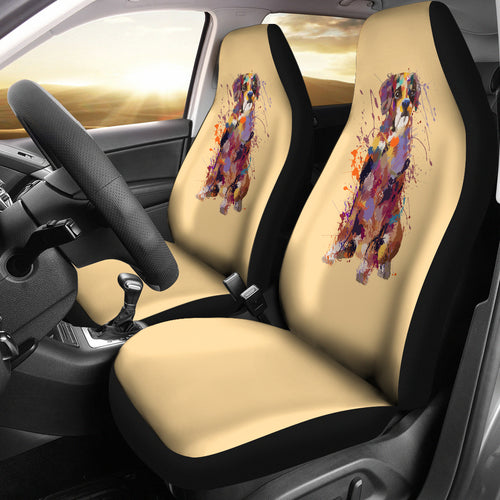Boxer Portrait Car Seat Covers (GOLD)
