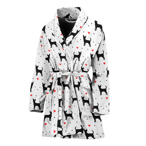 Chihuahua Love Women's Bathrobe