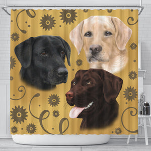 Lab Breed Shower Curtain