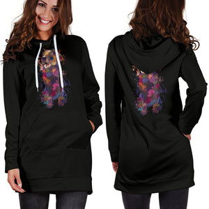 Labrador Retriever Portrait Hoodie Dress