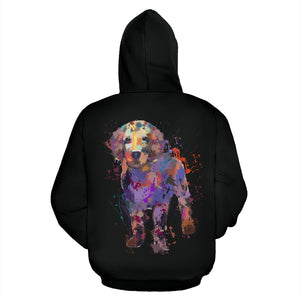 Golden Retriever Puppy Portrait Zip-Up Hoodie