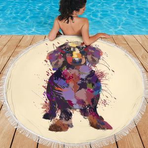 Dachshund Portrait Beach Blanket