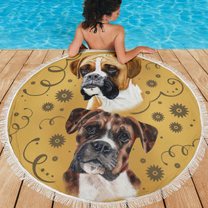 Boxer Breed Beach Blanket