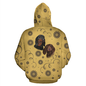 Dachshund Breed Zip-Up Hoodie