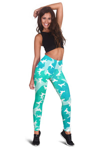 Golden Retriever Aqua Leggings