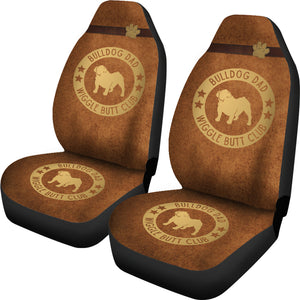 Bulldog Dad Car Seat Covers
