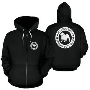 Bulldog Mom Zip-Up Hoodie