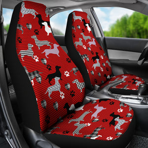 Dachshund Red Pattern Car Seat Cover
