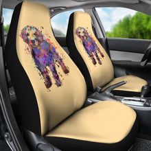Golden Retriever Puppy Portrait Car Seat Covers (GOLD)