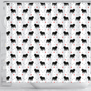 Bulldog Love Shower Curtain